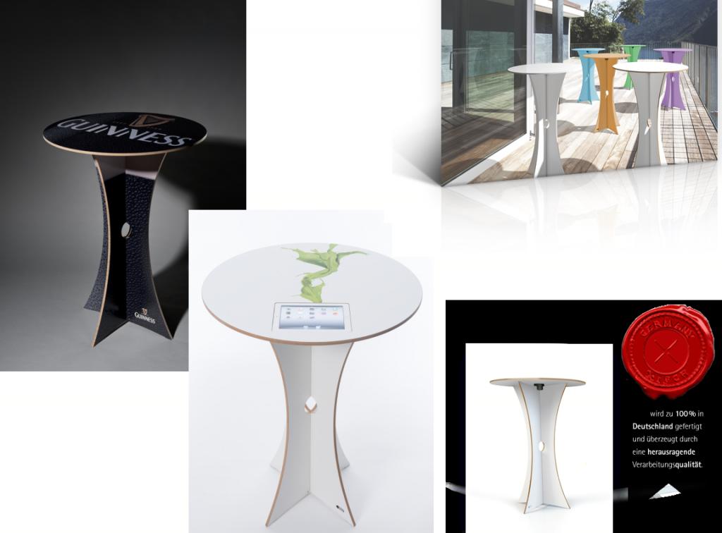 designer stehtisch base pad mit tablet pc vorrichtung oder ohne idee agent idee agent. Black Bedroom Furniture Sets. Home Design Ideas