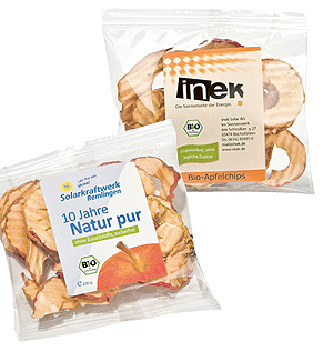 Bio-Apfelsnack, Apfelringe