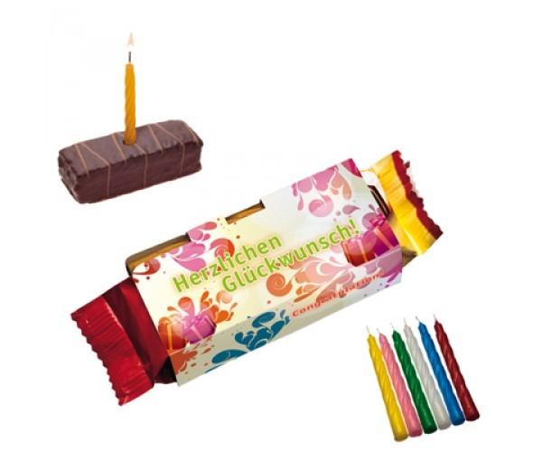 Happy Törtchen Kuchenmeister Geburtstagskuchen mit Kerze - Idee ...