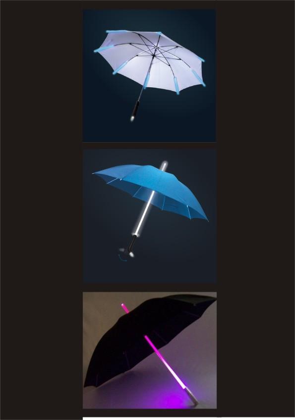 LED-Regenschirm, Schirm mit LED, Regenschirm LED