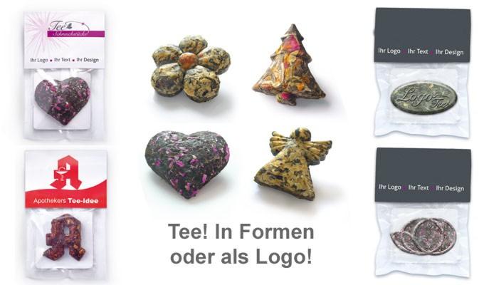 Logo-Tee, Tee gestanzt, grüner tee, werbetee, Werbe-tee