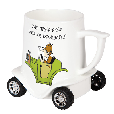 Tasse mit Räder, Rädertasse, Autotasse, Auto-Tassen, LKW-Tasse