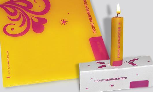 mailingkerze, Mailing-Kerze, Rollkerze, Kerze zum selber machen