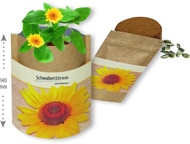 Samen, Pflanzen, Pflanzenwerbung, samenbomben, Werbe-Pflanzen, lebende werbung, nature-Bag
