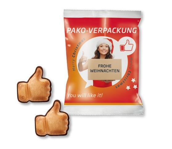 like-Zeichen, Daumen hoch, Daumen-Hoch-Süßware, like-Gebäck, Likies