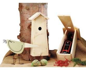 Wein, Weingeschenk, Holzbox, Wein in Holzkasten, Wein in Holzschachtel