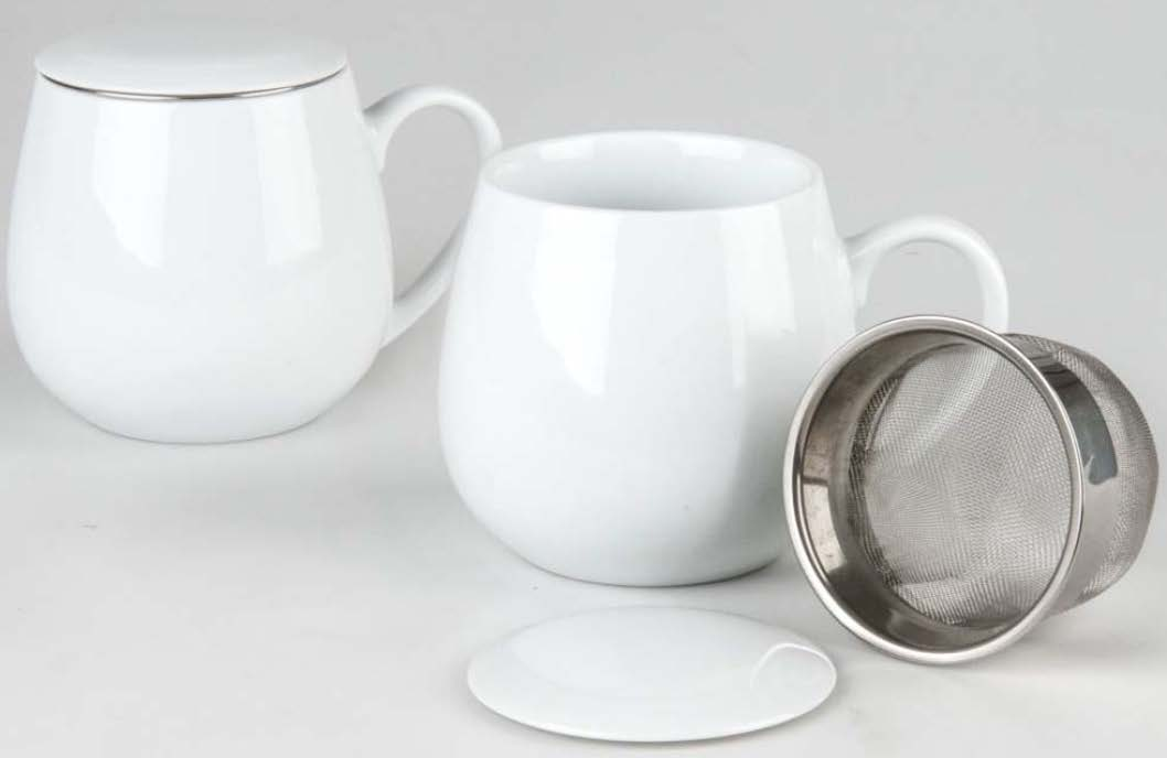 Tasse mit Teesieb, Teetasse mit Sieb, Tee-Tasse, Tasse, tea for you