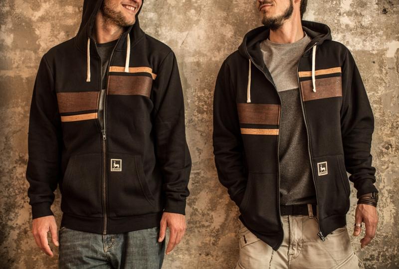 Firmenbekleidung mit Kork Elementen