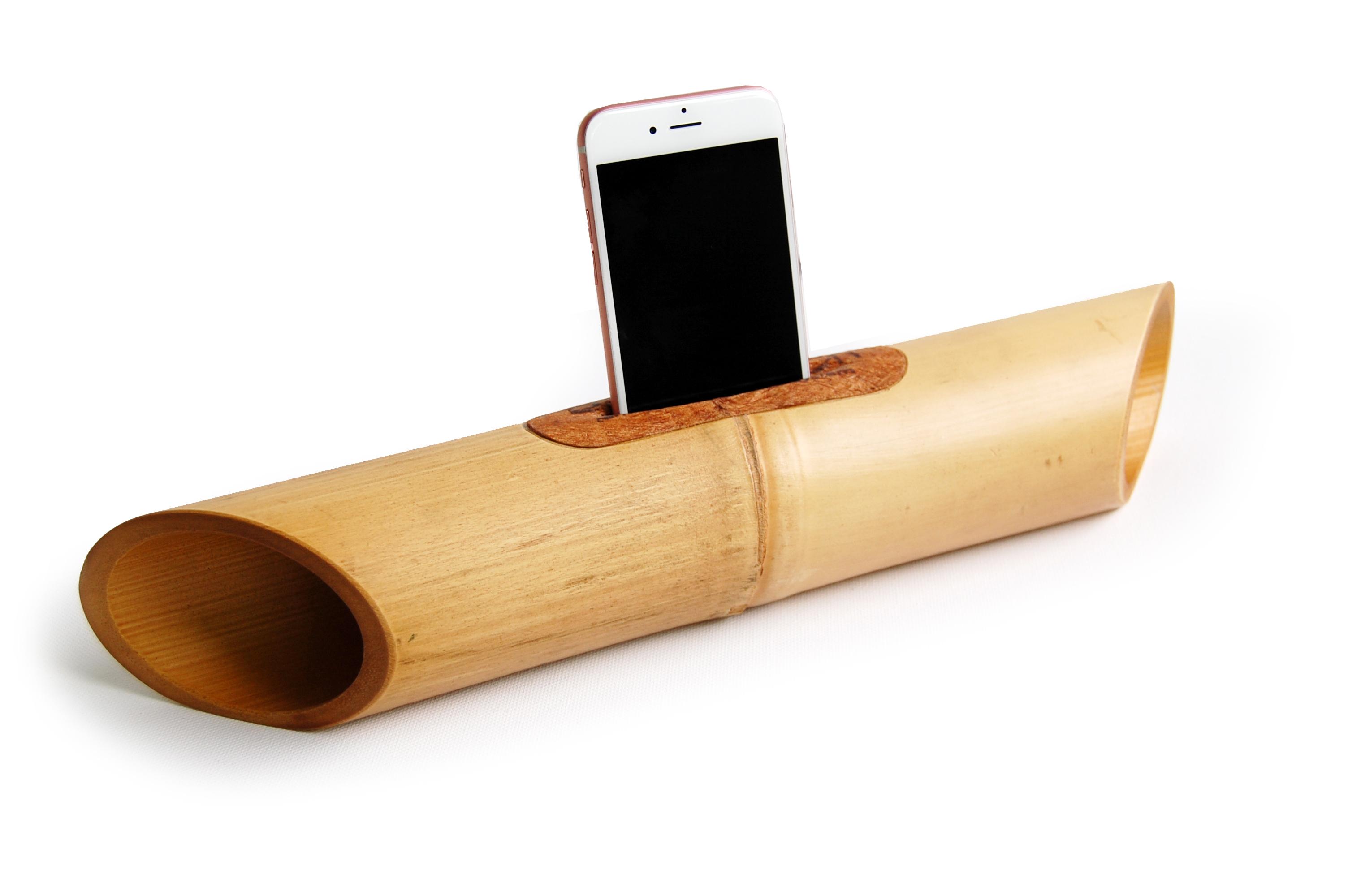 Relativ Smartphone Lautsprecher aus Bambus für ein gutes Gefühl beim Musik QW16