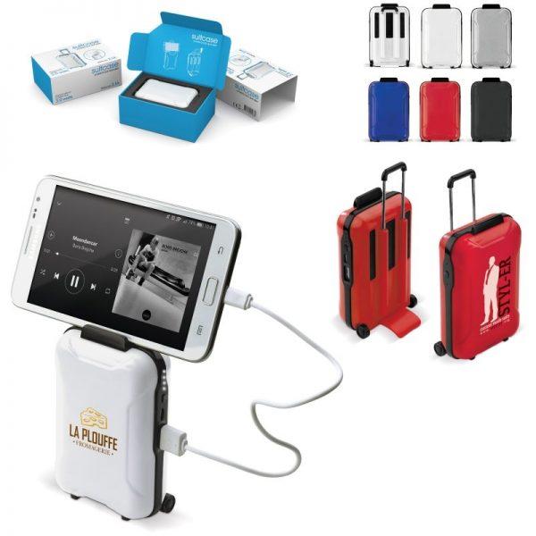 Powerbank mit Lautsprecher in Kofferform