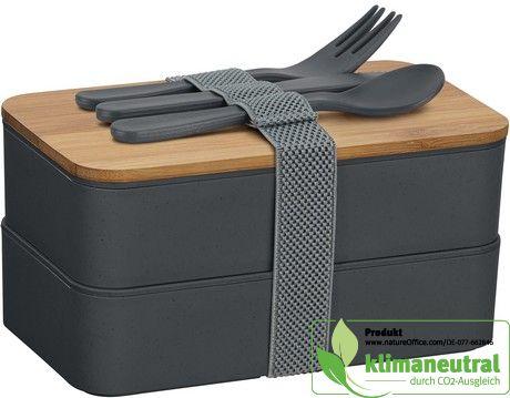 Grau Ökologische Doppel-Lunchbox